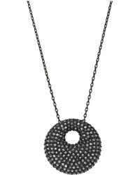 Swarovski Stone Pendant Necklace - Lyst