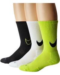 Nike Dri-Fit Cotton Swoosh Crew 3-Pair Pack - Lyst