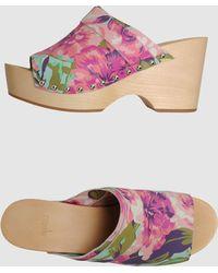 Kenzo Purple Platform Sandals - Lyst