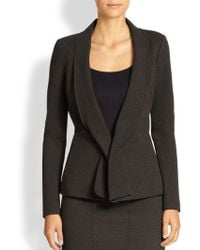 Donna Karan New York Draped Lapel Jacket - Lyst