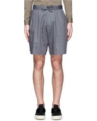 Ports 1961 - Pleat Front Cotton-silk Shorts - Lyst
