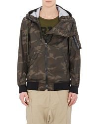 NLST - Camouflage Hooded Jacket - Lyst