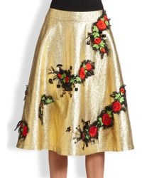 Creatures of the Wind Embellished Metallic Circle Skirt - Lyst