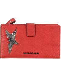 Mugler Faux Leather Wallet - Lyst