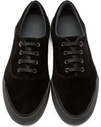 Lanvin | Black Suede Low-top Sneakers | Lyst