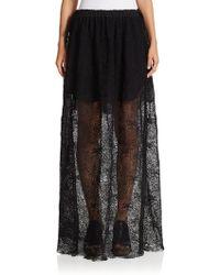 Chloé   Drawstring Lace Maxi Skirt   Lyst