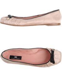 Elisabetta Franchi Ballet Flats - Lyst