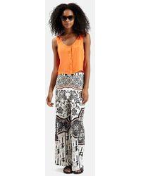 Topshop Tile Print Wide Leg Trousers gray - Lyst