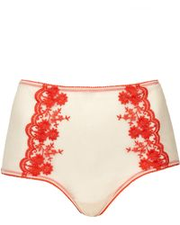Topshop High Waisted Mesh Knickers - Lyst
