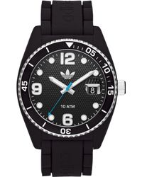 Adidas Unisex Brisbane Black Silicone Strap Watch 42mm - Lyst