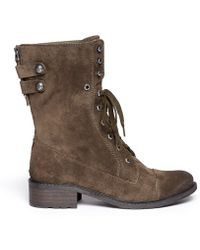 Sam Edelman Darwin Suede Lace Up Boots - Lyst