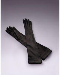 Agent Provocateur - Long Satin Glove Black - Lyst