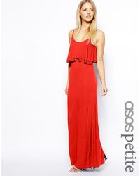 Asos Maxi Dress with Crop Top - Lyst