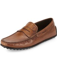 Tod's Leather Penny Driver Slip-On - Lyst