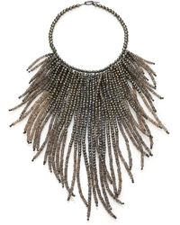 Brunello Cucinelli Beaded Fringe Necklace - Lyst