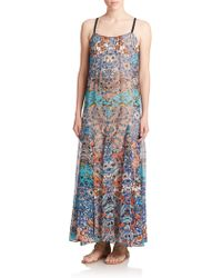 Twelfth Street Cynthia Vincent | Silk Batik-print Maxi Dress | Lyst
