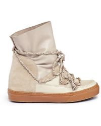 Ikkii 'Nilak' Chain Leather Sneaker Boots - Lyst