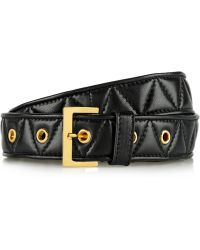 Miu Miu Quilted Leather Belt - Lyst