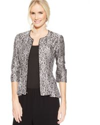 Alex Evenings Lace Peplum Jacket - Lyst