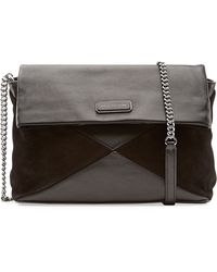 Marc By Marc Jacobs Leather And Suede Shoulder Bag - Lyst