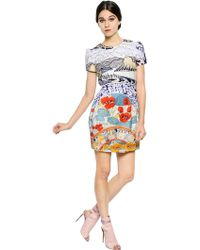 Mary Katrantzou Winding River Print Cotton Poplin Dress - Lyst