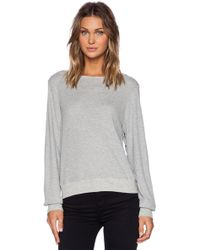 Wildfox Gray Baggy Thermal - Lyst