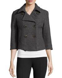 Raison D'etre - 3/4-sleeve Wool Cropped Coat - Lyst