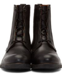 Diesel Black Leather Johnny The Riot Boots - Lyst