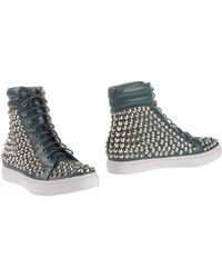 Jeffrey Campbell Blue Ankle Boots - Lyst