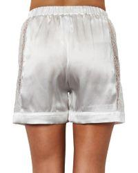 Raphaëlla Riboud - Scott Lace-Panel Silk Pyjama Shorts - Lyst
