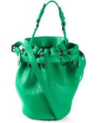 Alexander Wang Diego Calf-Leather Bucket Bag - Lyst