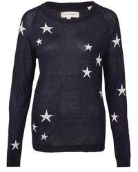 Chinti & Parker Navy Star Silk-Cashmere Blend Jumper blue - Lyst