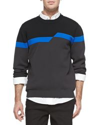 Alexander Wang Broken Stripe Sweatshirt - Lyst