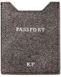 Abas - Glitter-Leather Passport Sleeve - Lyst