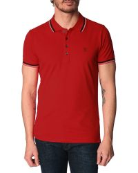 Diesel Oin Red Polo Shirt With Contrasting Details - Lyst