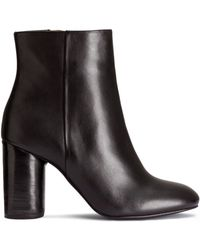 H&M | Leather Ankle Boots | Lyst