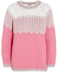 Miu Miu Chunkyknit Wool Sweater - Lyst