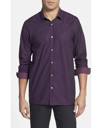 Ted Baker 'Sayswho' Trim Fit Floral Sport Shirt - Lyst