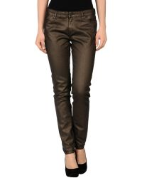 Superfine Brown Denim Pants - Lyst