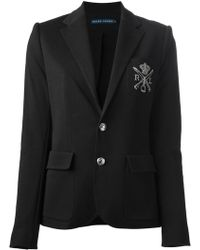 Ralph Lauren Blue Label Logo Embroidered Blazer - Lyst