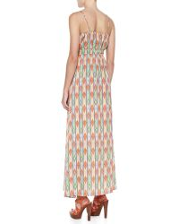 Cusp By Neiman Marcus Soft Printed Maxi Dress - Lyst