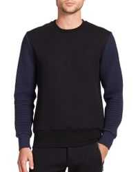 Timo Weiland - Beff Quilted Crewneck Sweatshirt - Lyst