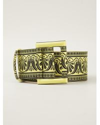 Fausto Puglisi - Printed Thick Belt - Lyst