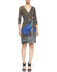 Diane Von Furstenberg New Julian Two Printed Wrap Dress - Lyst