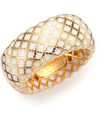 Gucci Diamantissima Enamel & 18K Yellow Gold Band Ring - Lyst