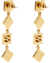 Diane von Furstenberg - Malachite And Gold-plated Earrings - Lyst
