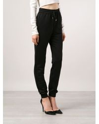 Barbara Bui - Tapered Cotton-Blend Sweatpants - Lyst