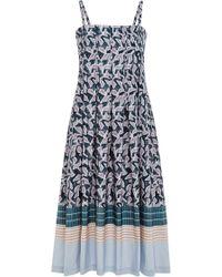 Suno Batik Stripes Spaghetti Strap Dress - Lyst
