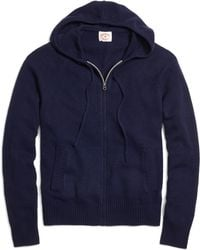 Brooks Brothers Full-zip Hooded Sweater - Lyst
