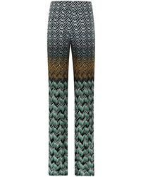 Missoni Peacock Wide Leg Trousers - Lyst